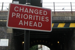 Changed Priorities sign by Addison Berry