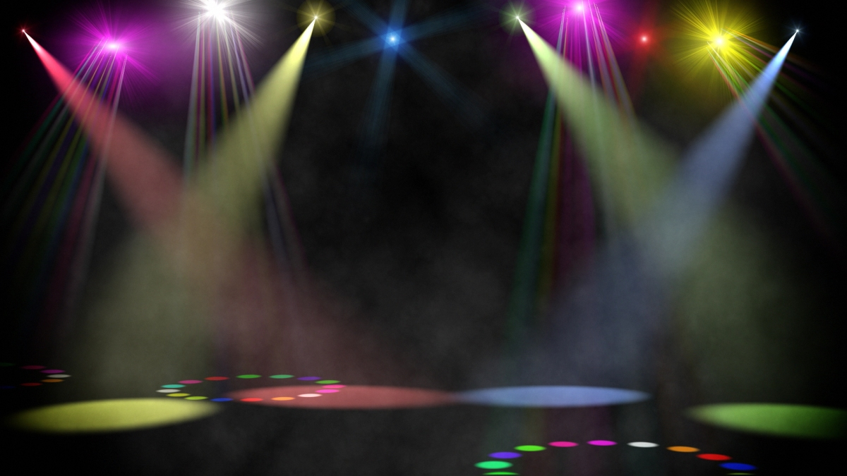 Swirling Corlored Stage Spotlights